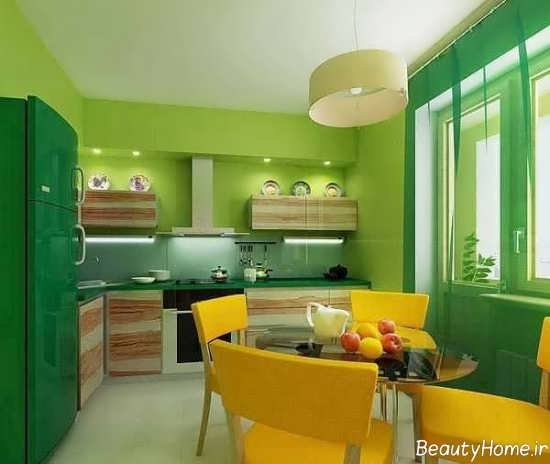 دکوراسیون لیمویی با تنالیته سبز
