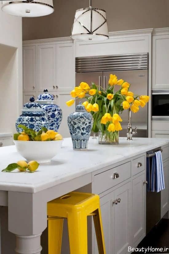 دکوراسیون رنگ لیمویی با تنالیته زرد