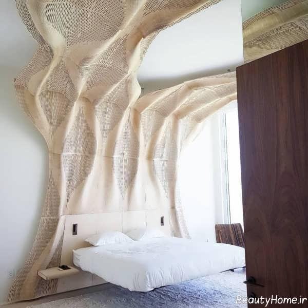 طراحی داخلی اتاق خواب با سازه های پارامتریک