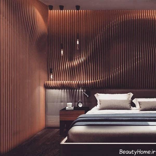 طراحی دکوراسیون شیک پارامتریک در فضای اتاق خواب