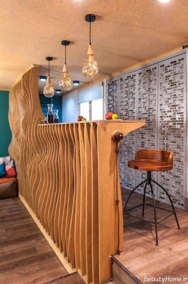طراحی دکوراسیون آشپزخانه پارامتریک شیک