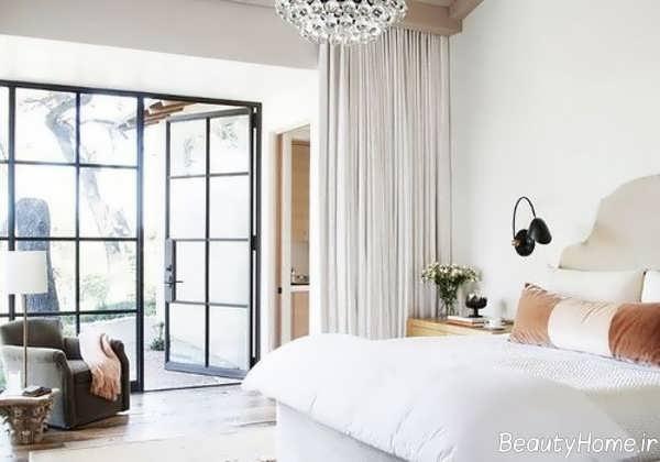 دکوراسیون سفید اتاق خواب برای فصل تابستان