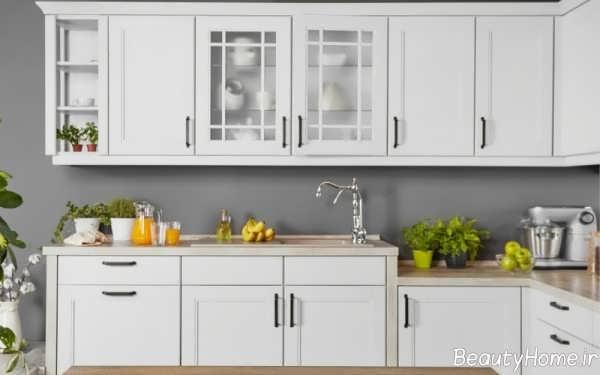 دکوراسیون سفید آشپزخانه تابستانی