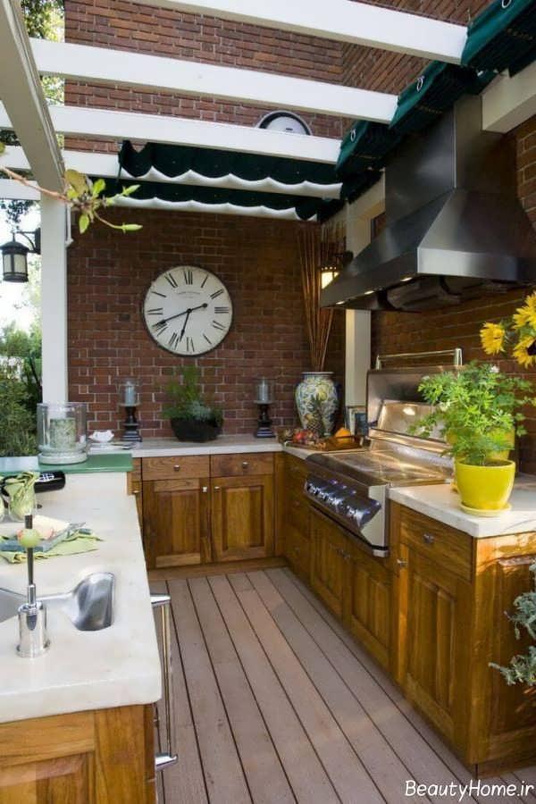 طراحی آشپزخانه به سبک تابستانی