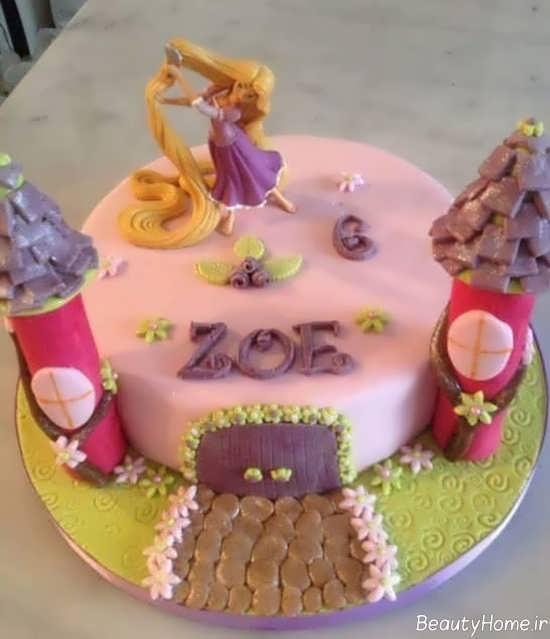 تزیین کیک تولد با تم گیسو کمند