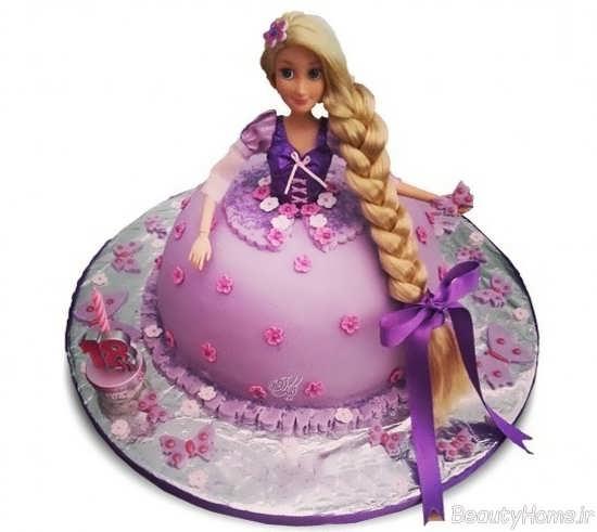 کیک تولد گیسو کمند