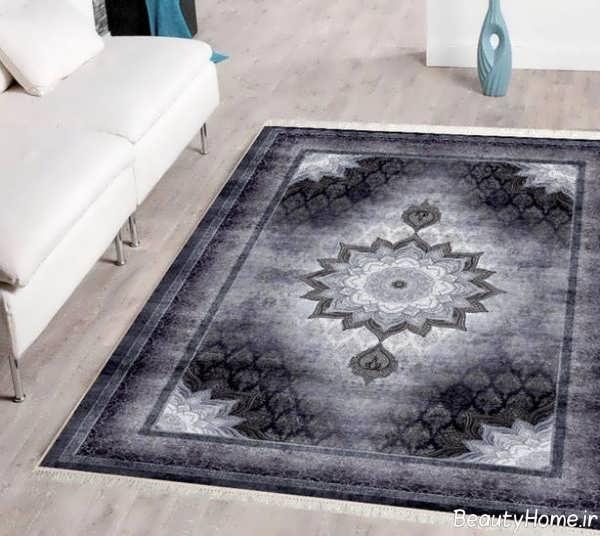 مدل فرش طوسی شیک