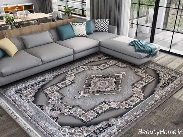 فرش طوسی شیک