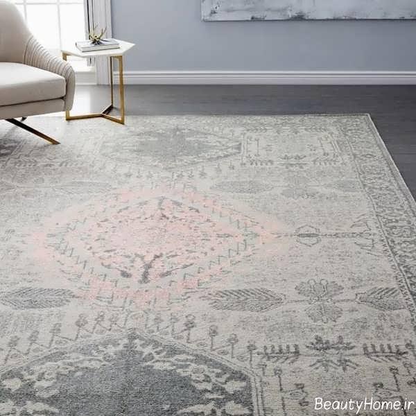 مدل فرش طوسی شیک و جذاب
