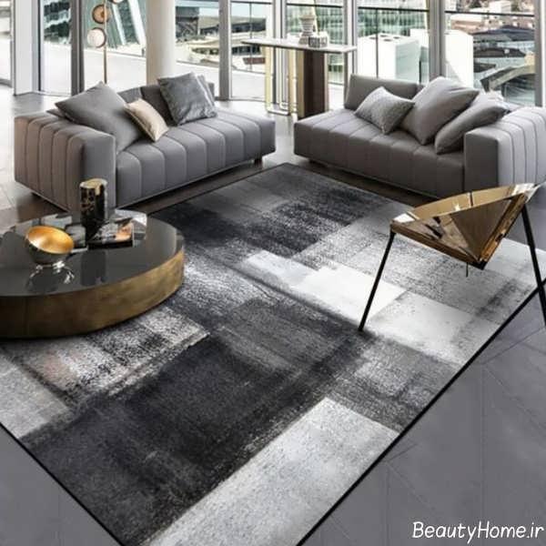 مدل فرش طوسی تیره و روشن