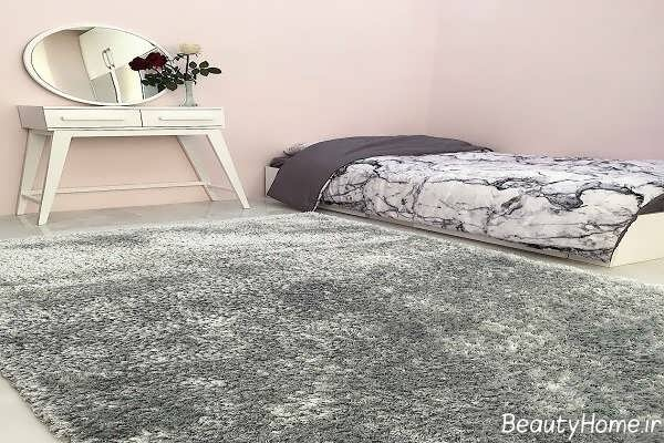 مدل فرش طوسی ساده