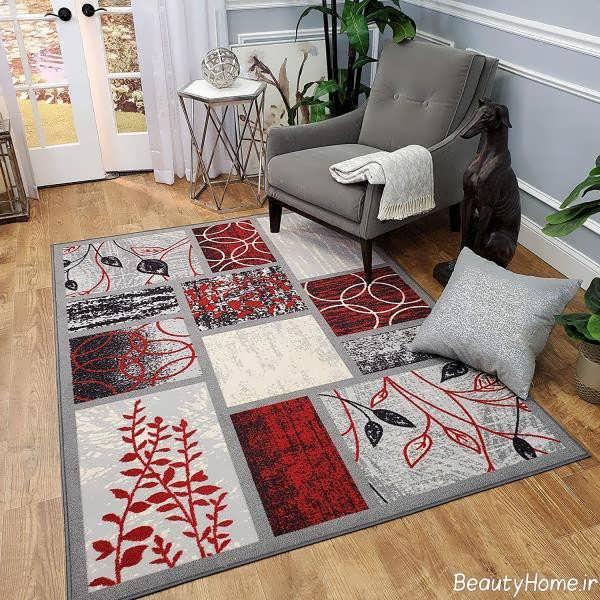 مدل فرش طوسی فانتزی