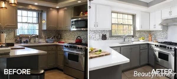 ایجاد تغییر در طراحی داخلی آشپزخانه