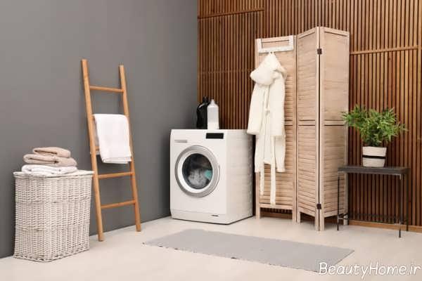 دکوراسیون کاربردی اتاق لباسشویی