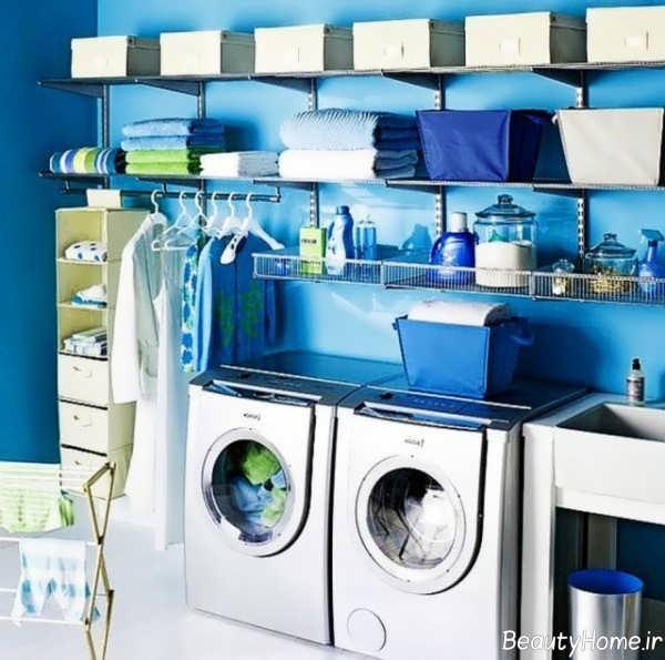 دیزاین شیک اتاق لباسشویی