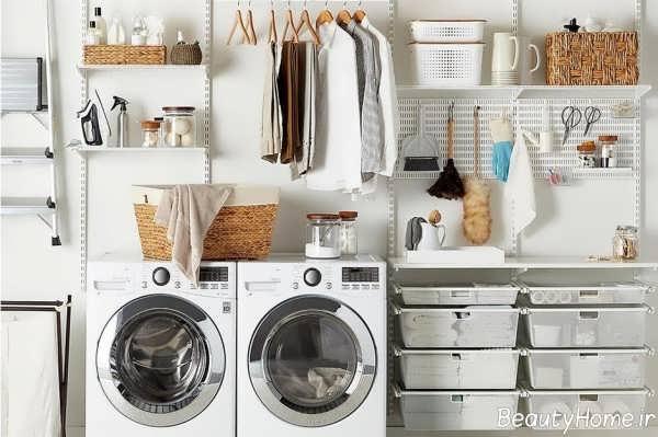طراحی زیبا و خاص اتاق لباسشویی
