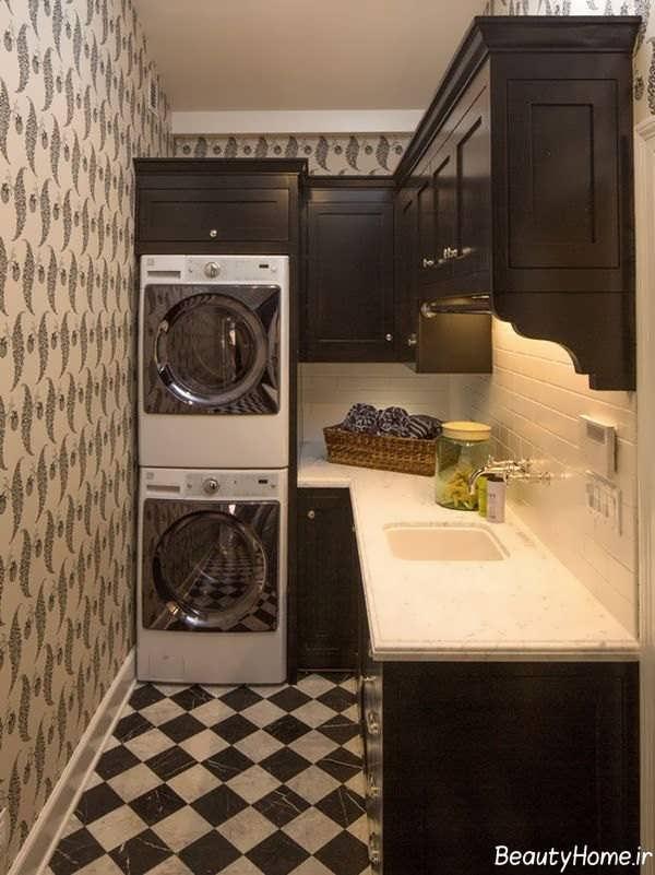 دیزاین اتاق لباسشویی شیک