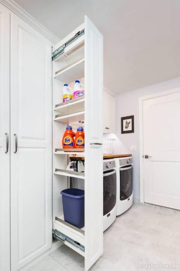 دکوراسیون اتاق لباسشویی کوچک