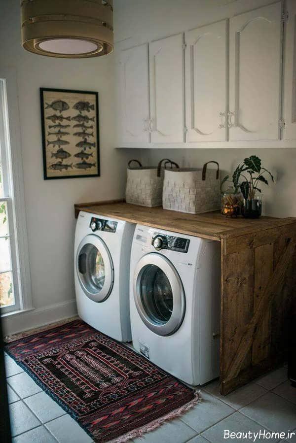 دکوراسیون زیبا و کاربردی اتاق لباسشویی