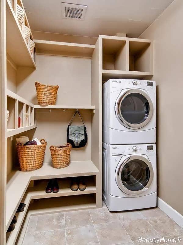 دکوراسیون زیبا اتاق لباسشویی