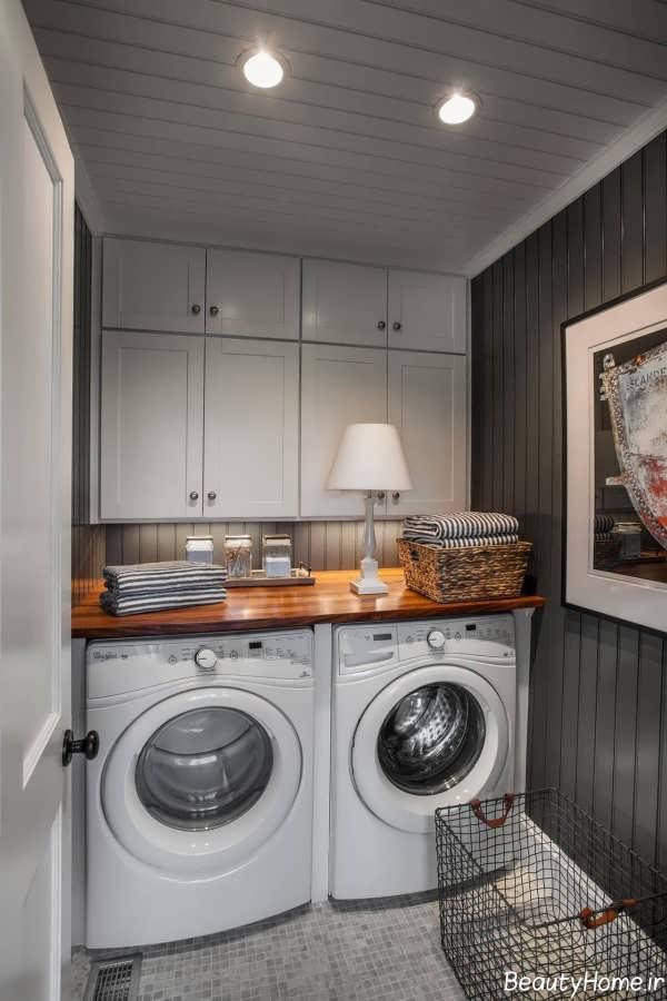دکوراسیون اتاق لباسشویی مدرن