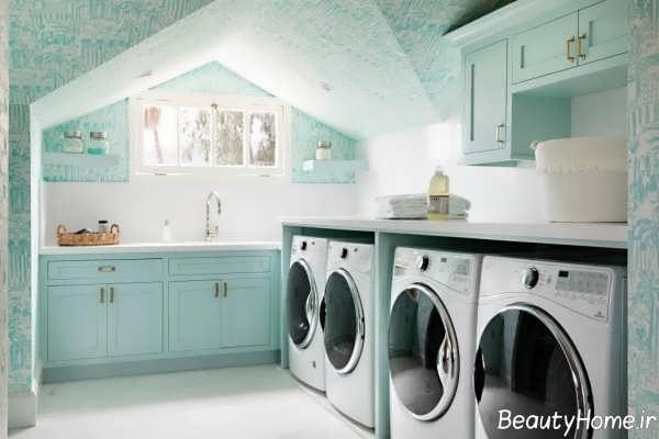 دیزاین داخلی اتاق لباسشویی
