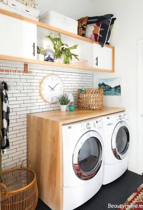 دکوراسیون خاص و کاربردی اتاق لباسشویی