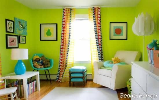 دکوراسیون اتاق با رنگ لیمویی