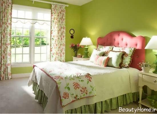 دکوراسیون رنگ لیمویی با تنالیته سبز