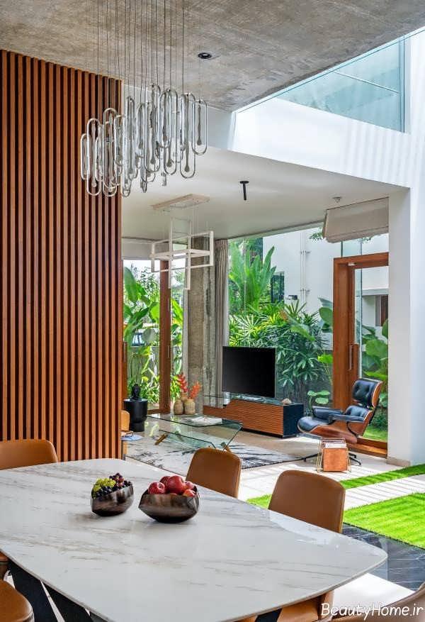 دیزاین داخلی آشپزخانه و اتاق غذاخوری