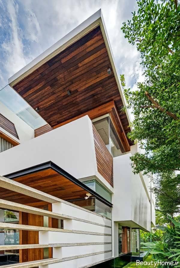 طراحی دکوراسیون نمای ویلایی ساختمان