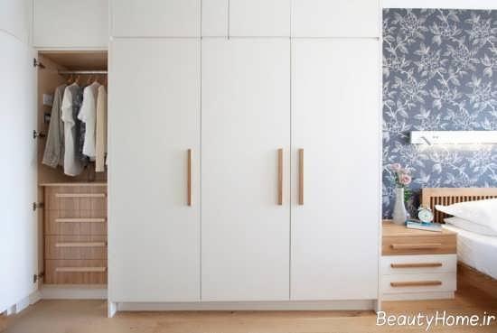 مدل کمد دیواری زیبا و سفید