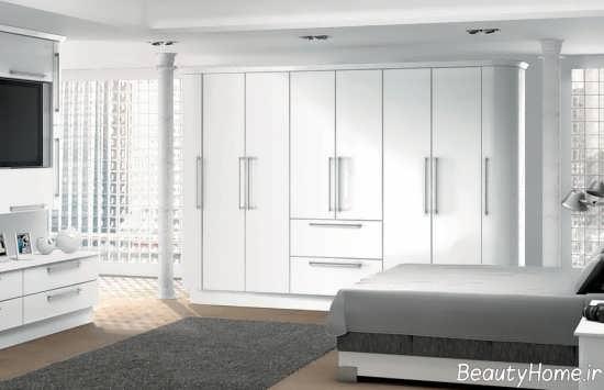 مدل کمد دیواری سفید و شیک