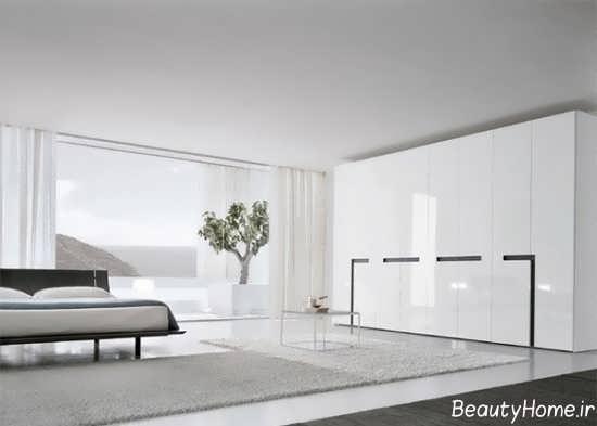 طرح کمد دیواری هایگلاس سفید