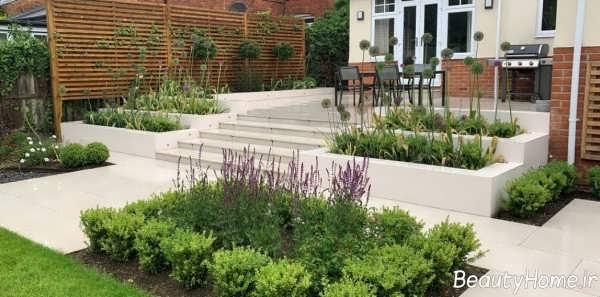 مدل راه پله ساده برای حیاط