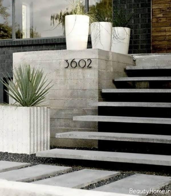 مدل راه پله حیاط زیبا و کاربردی