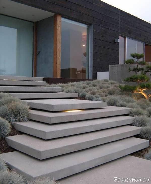 مدل زیبا راه پله حیاط