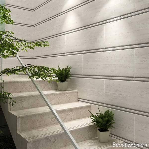 مدل راه پله سنگی حیاط