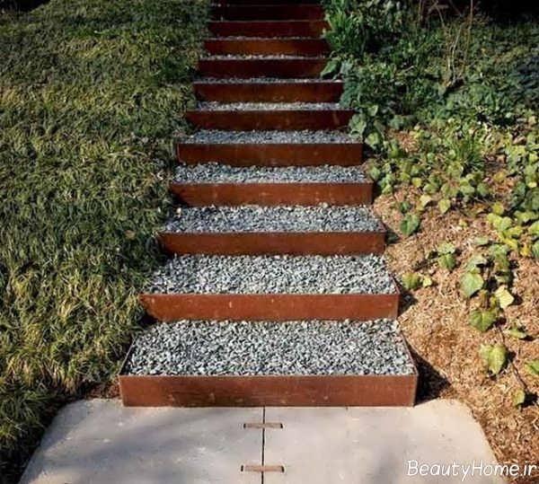 مدل راه پله مخصوص حیاط