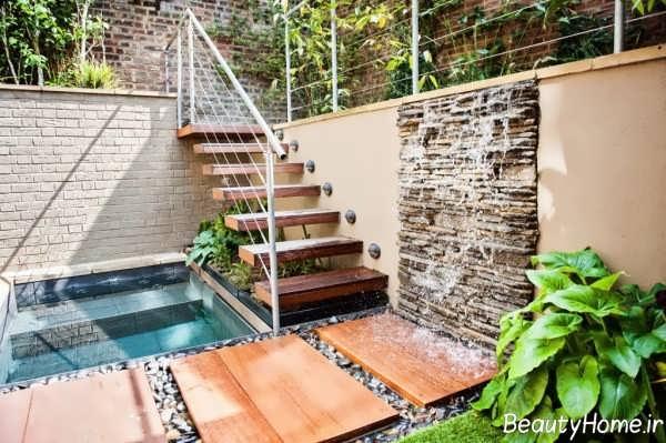 مدل راه پله زیبا برای حیاط