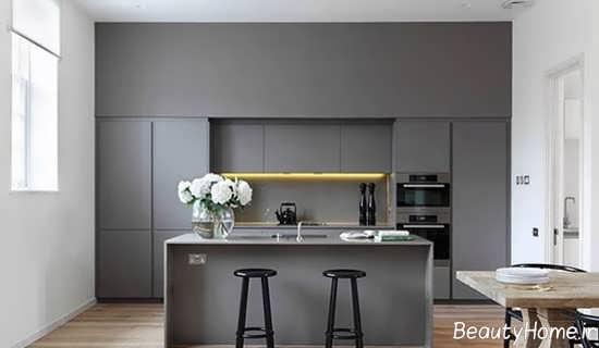 مدل کابینت طوسی برای آشپزخانه