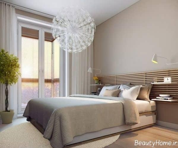 طراحی داخلی اتاق خواب با رنگ های خنثی