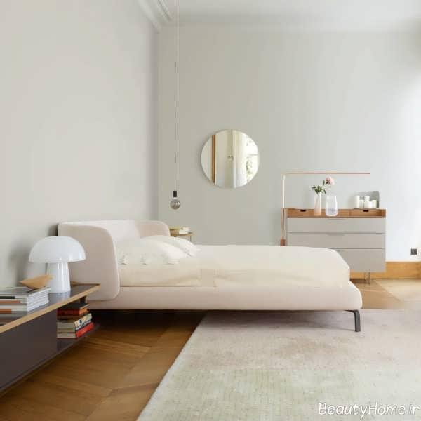 دکوراسیون اتاق خواب کوچک با رنگ خنثی