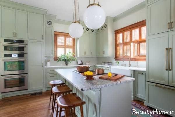 دکوراسیون آشپزخانه با رنگ هایی خنثی