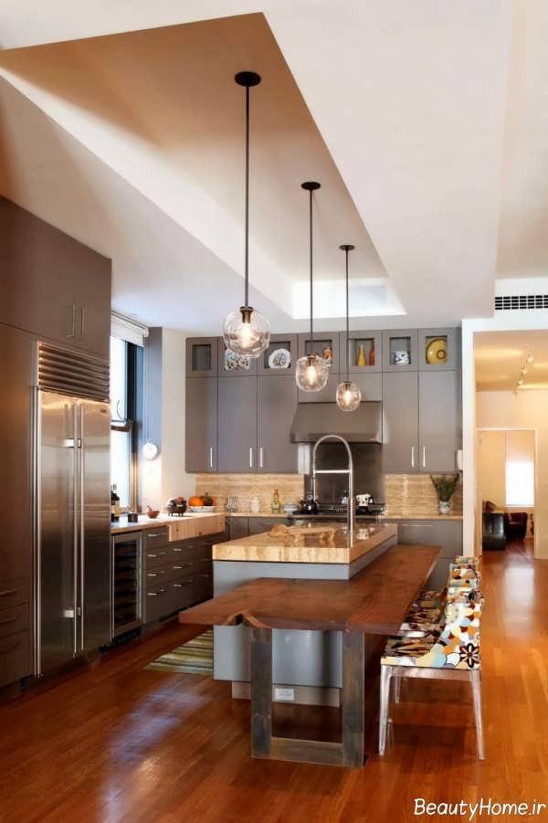 طراحی داخلی آشپزخانه با رنگ خنثی