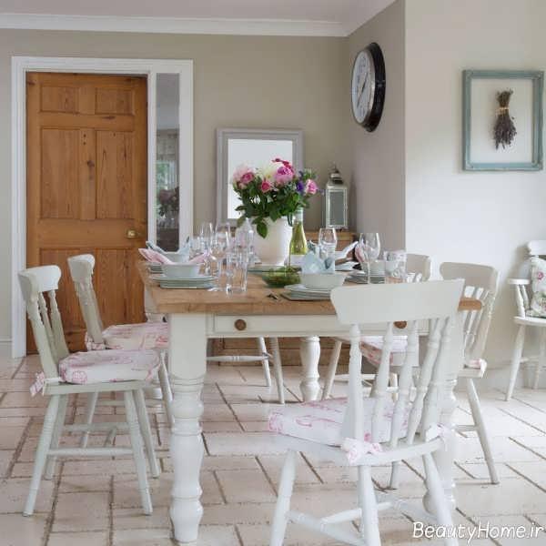 طراحی داخلی اتاق غذاخوری به کمک رنگ های خنثی