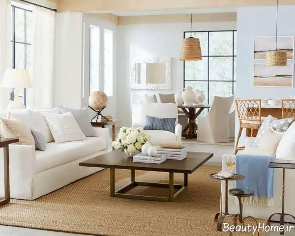 طراحی داخلی منزل با رنگ خنثی