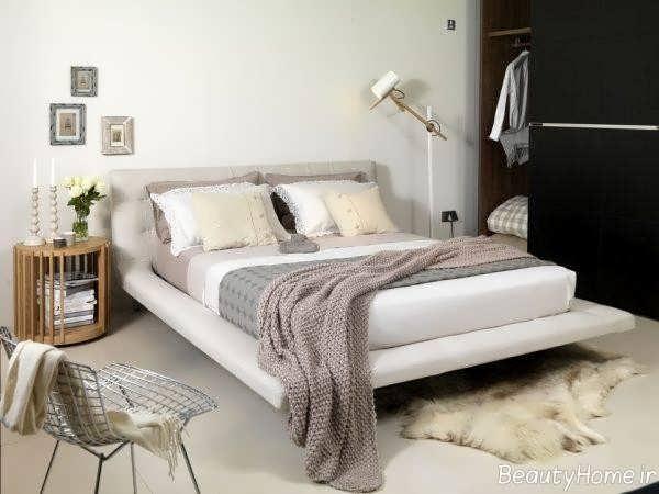 دیزاین اتاق خواب با رنگ خنثی