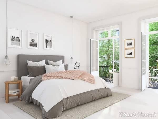 دکوراسیون اتاق خواب با رنگ خنثی