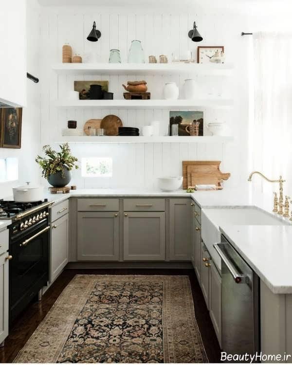 طراحی دکوراسیون آشپزخانه با رنگ های خنثی و زیبا